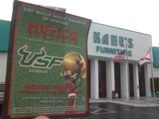 Turn Your Usf Game Ticket In To Kanes Furniture For Free Movie Tickets Blog Post