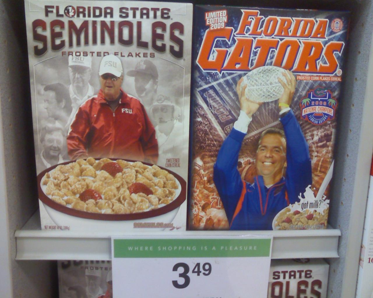 Florida College Football Cereal - Gators - Seminoles - Hurricanes at Publix - Blog Post