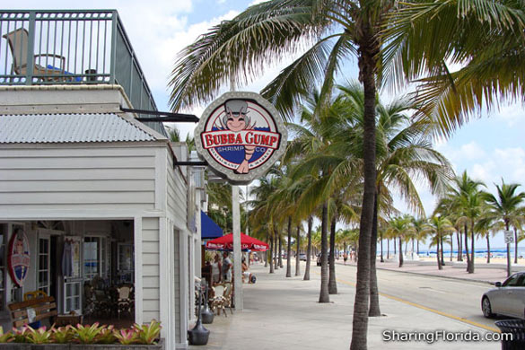 Bubba gump ft lauderdale picture from bubba gumps seafood for Fish restaurant fort lauderdale
