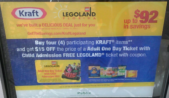Kraft and Publix Legoland Savings