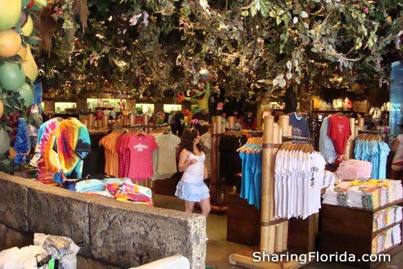 Inside the Rainforest Cafe in Orlando