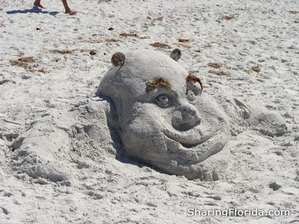 Shrek Sand Sculpture