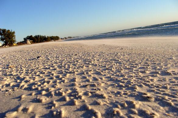 anna maria winter beach