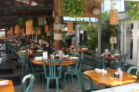 & Inside The Two Friends Patio Restaurant